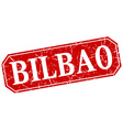 Bilbao red square grunge retro style sign vector image vector image