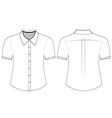 Blank shirt with short sleeves template vector image vector image