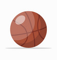 brown rubber basket ball vector image vector image