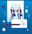 business agreement concept businessman vector image vector image