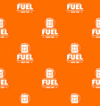 canister pattern orange vector image vector image