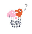 cartoon heart and brain take selfie happy vector image