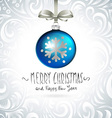 Christmas ball Christmas tree decorations vector image vector image