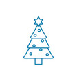 christmas tree linear icon concept christmas tree vector image vector image
