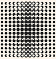 Circles digital pop art halftone seamless pattern