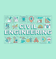 civil engineering word concepts banner vector image vector image