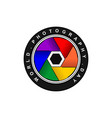 colorful capture icon vector image vector image