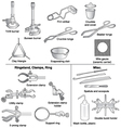 Common laboratory equipment vector image