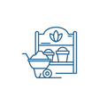 country house line icon concept country house vector image vector image