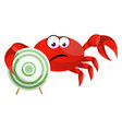 crab with target on white background vector image vector image