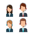 customer service agents group vector image