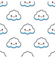 cute cloud characters kawaii seamless pattern flat vector image vector image