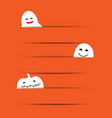 cute little ghost with orange paper vector image