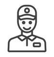 delivery man line icon logistic and delivery vector image vector image