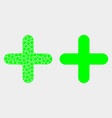 dot and flat cross icon vector image vector image