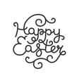 easter card with handdrawn lettering vector image