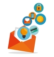 email envelope marketing app icon vector image