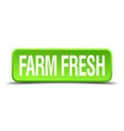farm fresh green 3d realistic square isolated vector image vector image