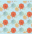 Flower seamless pattern on a background