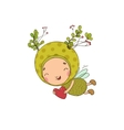 Forest Fairy and heart on a white background vector image vector image