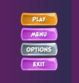game interface elements in cartoon style vector image