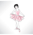 girl dancing in ballet shoes and ballet tutu vector image vector image