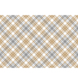 Gold silver check fabric seamless background vector image vector image