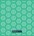 green background with flower pattern vector image vector image