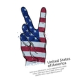 hand gesture of victory flag usa united states vector image vector image