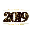 happy new year merry christmas card black number vector image vector image
