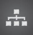 hierarchy sketch logo doodle icon vector image vector image