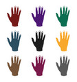 high five icon in black style isolated on white vector image vector image