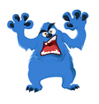 image blue cartoon angry monster vector image