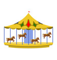 isolated carnival carousel icon vector image vector image