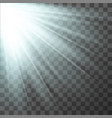 light effect sun rays vector image