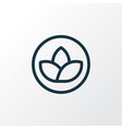 lotus icon line symbol premium quality isolated vector image