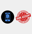 mobile bank icon and scratched bank account vector image vector image