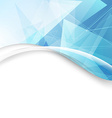 Modern abstract triangle folder wave border design vector image vector image