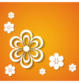 orange holiday background vector image