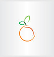 orange icon fruit sign vector image