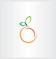 orange icon fruit sign vector image vector image