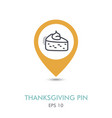 piece of pumpkin pie mapping pin icon vector image