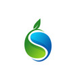 plant water ecology logo waterdrop symbol icon vector image vector image