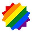 rainbow pride flag lgbt in dodecagonal shape vector image vector image
