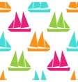 Retro boat seamless pattern vector image vector image
