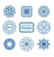 Rossete elements for diploma or certificate vector image vector image