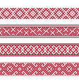 russian old embroidery and patterns vector image