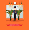 security guard in flat style vector image