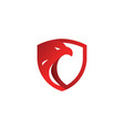 security shield red eagle logo design template vector image vector image