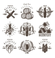 Set of vintage beer festival emblems vector image vector image